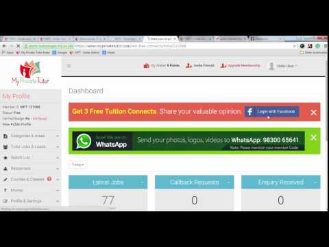 How to get tuition jobs for Free on MyPrivateTutor