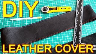 How to Make Steering Wheel Cover With Leather DIY video instructions