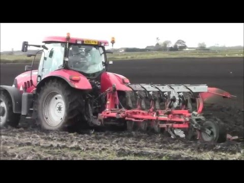 Ploughing & drilling with 3 Case`s.2015