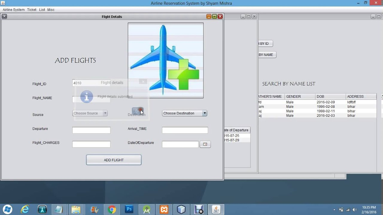airline reservation system project Airline reservation system main aim is to provide the online ticket & seat reservation of national and international flights and also give us the information about flight departures.