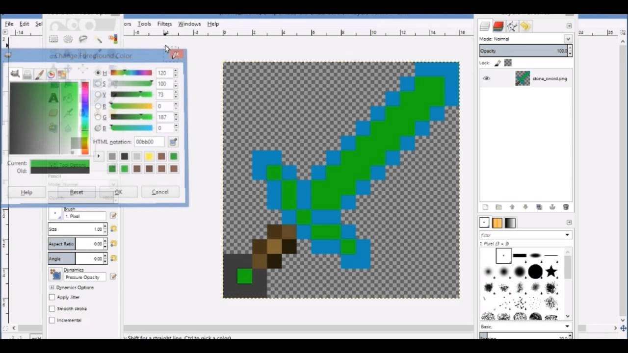 how to edit minecraft texture packs with gimp