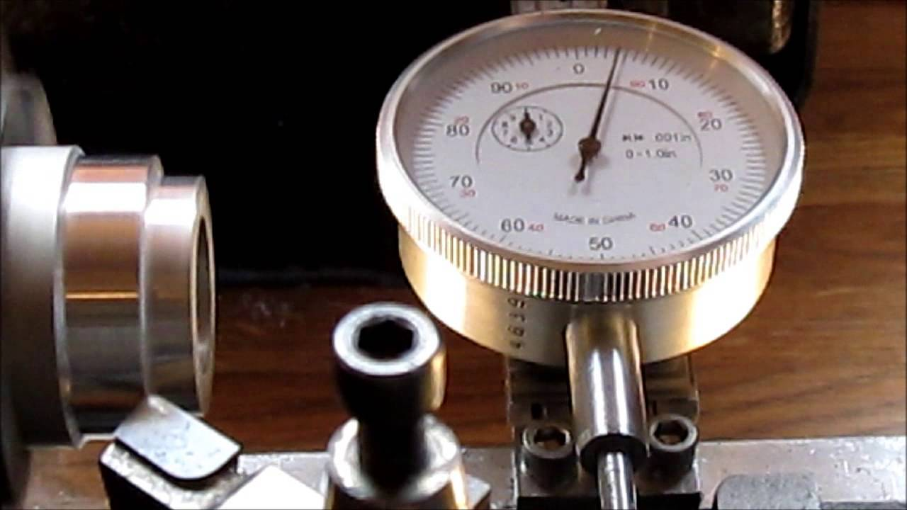 Dial Indicator Mounting In Collet : Test of dial indicator mount on lathe youtube