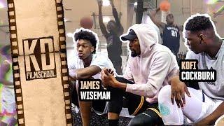 """They Giving Dudes $300 Million To Play BALL!"" KD Gets REAL With James Wiseman & Kofi Cockburn 😱"