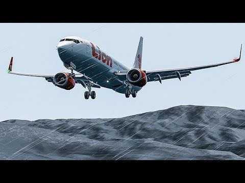 Boeing 737 Lands in the Water Before Touchdown | Blind Landing | Lion Air Flight 904