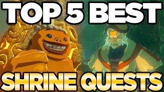 The TOP 5 BEST Shrine Quests in Zelda Breath of the Wild | Austin John Plays