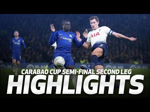 HIGHLIGHTS   Chelsea 2-1 Spurs (2-2 on agg, 4-2 on pens)   Carabao Cup semi-final second leg