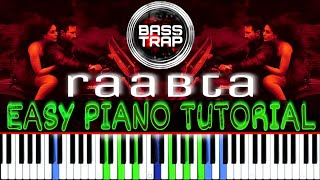 RAABTA – AGENT VINOD | HOW TO PLAY (EASY PIANO TUTORIAL) + INSTRUMENTAL COVER | LEAD + BASS + CHORDS