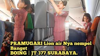 Pramugari Cantik Lion Air JT377|  Surabaya Juanda Internasional