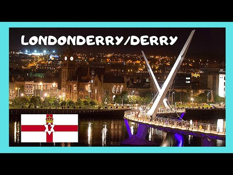EXPLORING DERRY/LONDONDERRY: Beautiful NIGHT VIEWS (NORTHERN IRELAND)