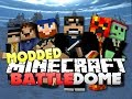 Minecraft MODDED Battle Dome  - WIENER THIEF BOAT (w/ Woofless, Lancey, and Friends)