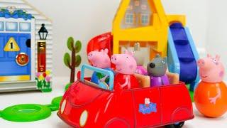 चलो Peppa Pig Weebles और एक मजेदार लॉकिंग Dollhouse के साथ खेलते हैं!