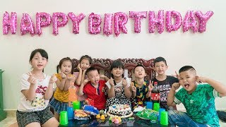 Kids Go To School | Day Birthday Of Chuns My Sister Buy Children's Birthday Cake
