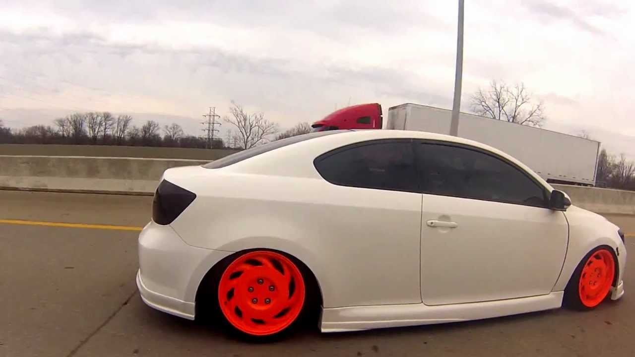Custom Championship White Bagged & Fitted Scion tC ...