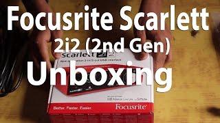 focusrite scarlett 2i2 2nd gen unboxing review 2017