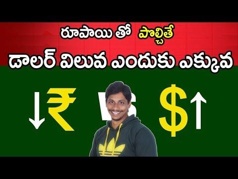 Why indian rupee is falling against dollar Telugu