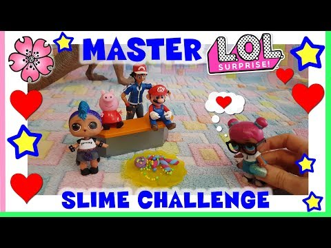 MASTER LOL SURPRISE Butter Slime CHALLENGE Melmito By Lara e Babou