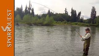 Fly Fishing for Salmon Kalum River Lodge Canada