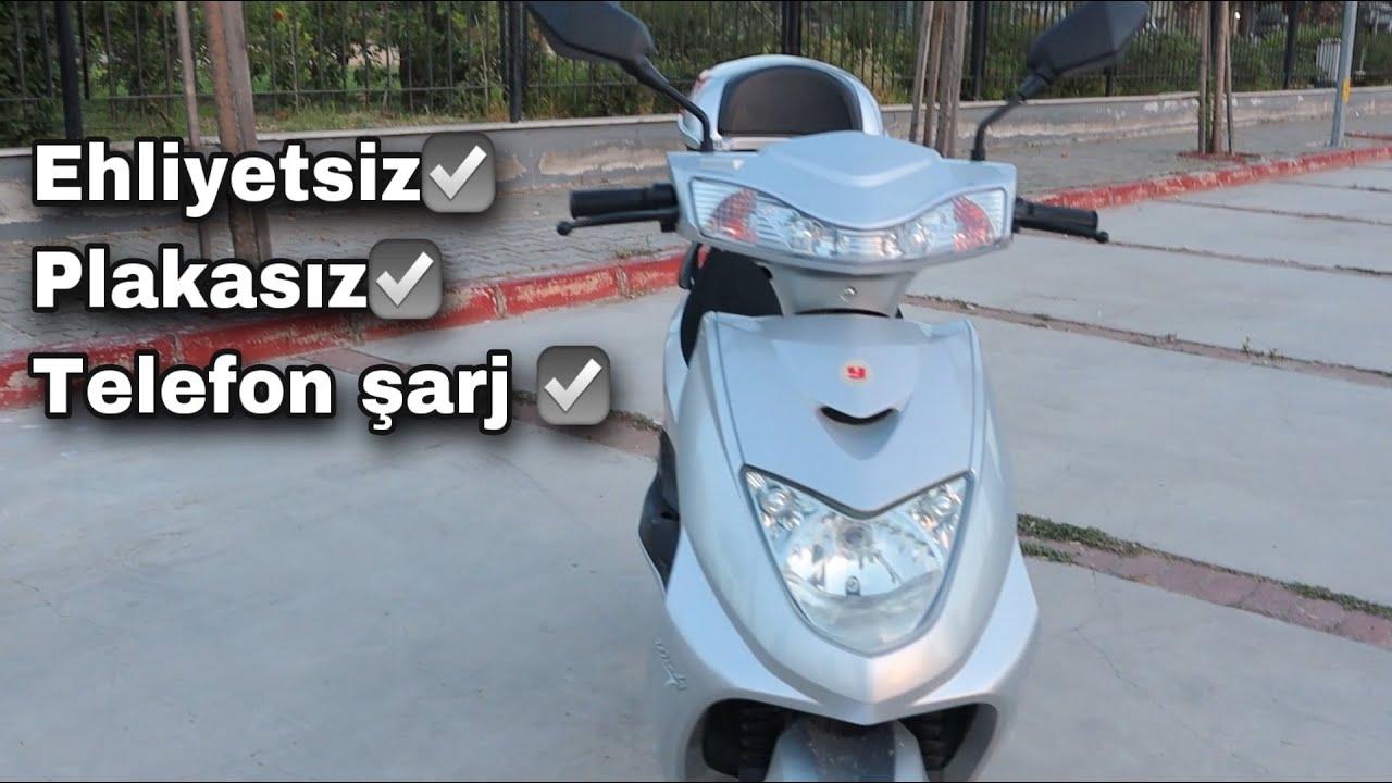 EHLİYET-PLAKA İSTEMEYEN TELEFON ŞARJ EDEN MOTORSİKLET! (Yuki Windy)