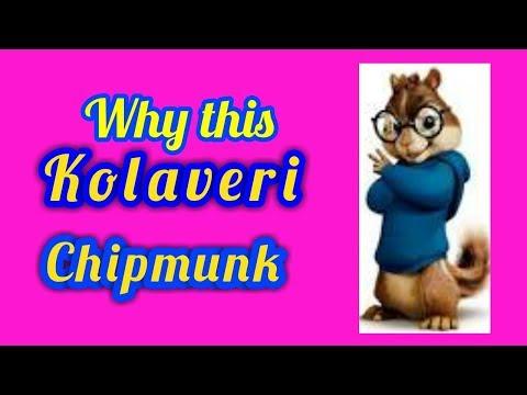 Why this kolaveri song (Chipmunk) version