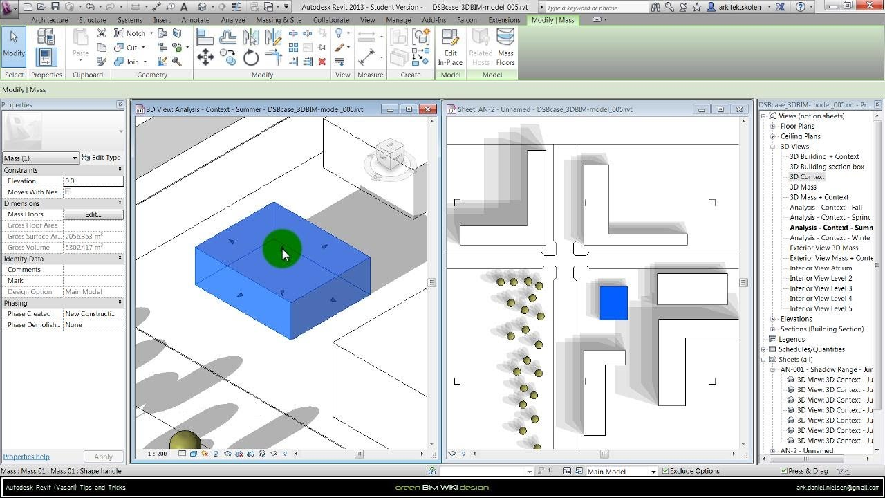 autodesk revit  vasari  sa   creating butterfly   shadow diagram    autodesk revit  vasari  sa   creating butterfly   shadow diagram   revit   youtube