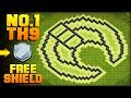 MOST EPIC TH9 FARMING BASE + PROOF!   Moon   CoC Town Hall 9 FREE SHIELD Base   Clash of Clans