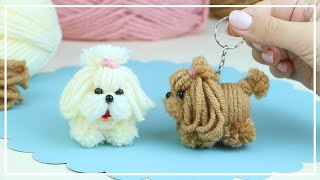 🐶🧶🐕 The Cutest Little Dog Easy Making 🌟 DIY NataliDoma