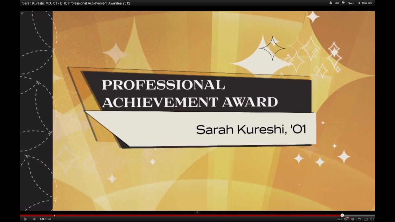 sarah kureshi md bhc professional achievement awardee  sarah kureshi md 01 bhc professional achievement awardee 2012