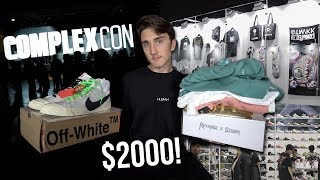 SPENDING $2000 AT COMPLEXCON! (Off-White + Nike)