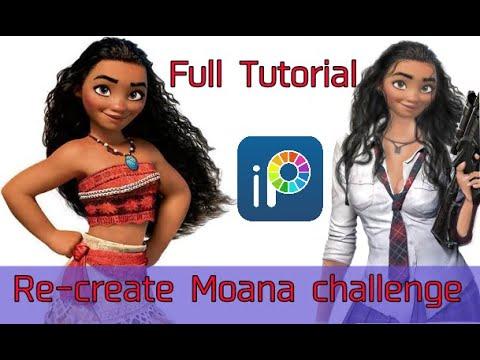 Disney Princess Glow Up? (Re-create Moana Tutorial) Ibispaint X
