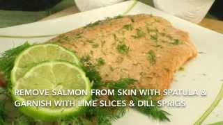 Dill Scented Salmon Cooked On Herbed Sea Salt