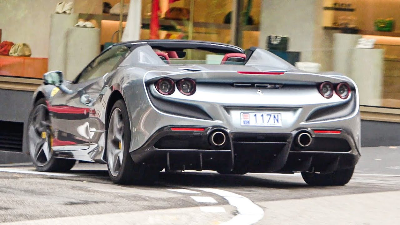 BRAND NEW 2020 Ferrari F8 Tributo Compilation in Monaco!