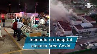 De acuerdo con los reportes, alrededor de las 18:30 horas se registró el incidente en el hospital regional ubicado en la localidad de Taxahdó en el Valle del Mezquital
