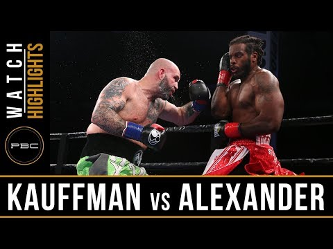 Kauffman vs Alexander Highlights: June 10, 2018   PBC on FS1