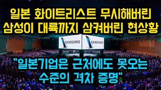 """일본 화이트리스트를 무시해버린 삼성이 대륙까지 삼켜버린 현상황, """"일본기업은 근처에도 못오는 수준의 격차 증명"""""""