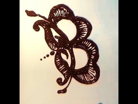 Mehndi Henna Design B Alphabet B Tatto Patch Girls Boys
