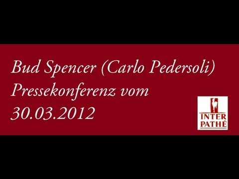 Bud Spencer (Carlo Pedersoli) Pressekonferenz 30.03.2012