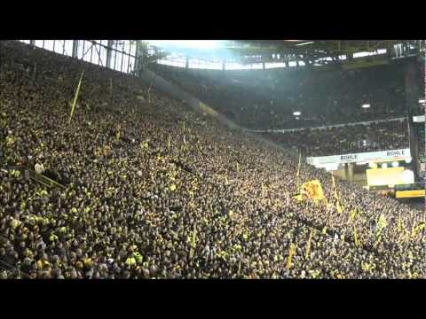 Borussia Dortmund - TSG 1899 Hoffenheim 3-1 Stimmung BVB - Hoffenheim Südtribüne 28.01.2012