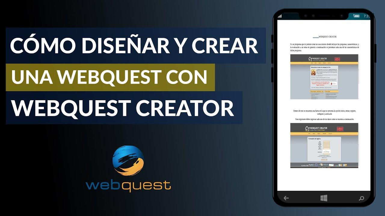 Cómo Hacer Diseñar Y Crear Una Webquest Con Webquest Creator Ejemplo Mira Cómo Se Hace