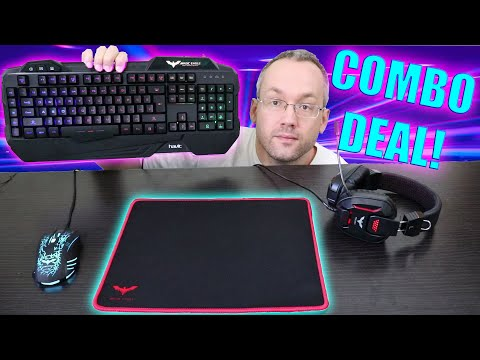 Havit Gaming Keyboard Mouse Headset COMBO With Mouse Pad -  Unboxing And Review