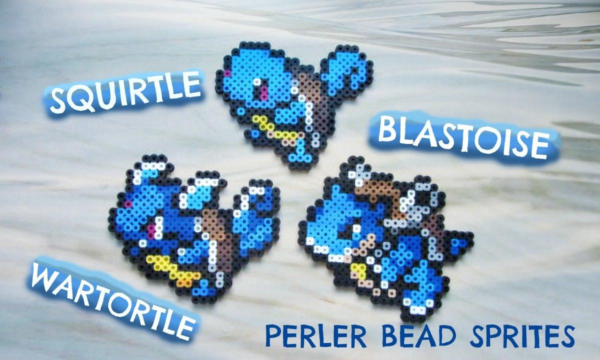 Perler bead pok mon squirtle wartortle blastoise 7 9 - Pokemon perle evolution ...