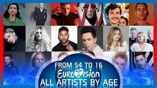 Eurovision 2019 - ALL ARTISTS BY AGE | From Oldest to Youngest | ALL 56