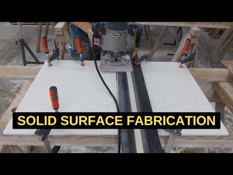 Stonia Acrylic Solid Surface Countertop Fabrication [Video]