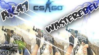 ╩ak47  Wasteland rebel╩del CS:GO para CS:S [HD 2017!] v34