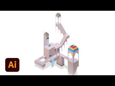 Create Isometric Art: Part 3 (Visual Style of Monument Valley) | Illustrator Tutorial