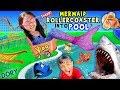 POOL ROLLER COASTER ! FVAqua Adventure Vlog