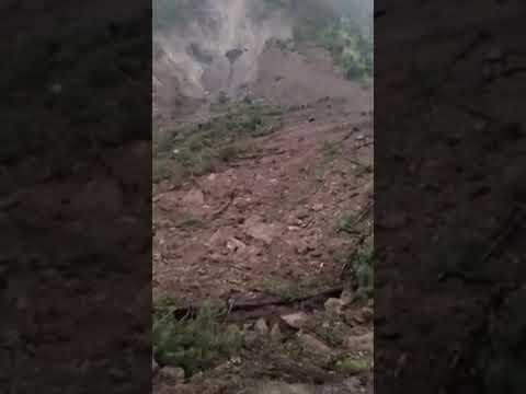 Landslide in  Mandi (Padhar) Himachal Pradesh India