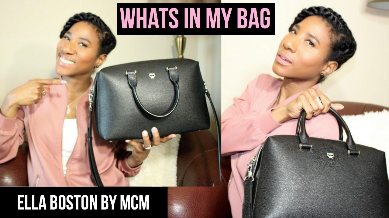 81dd7f71c6e603 WHAT S IN MY BAG  MCM ELLA BOSTON BAG REVIEW - YouTube