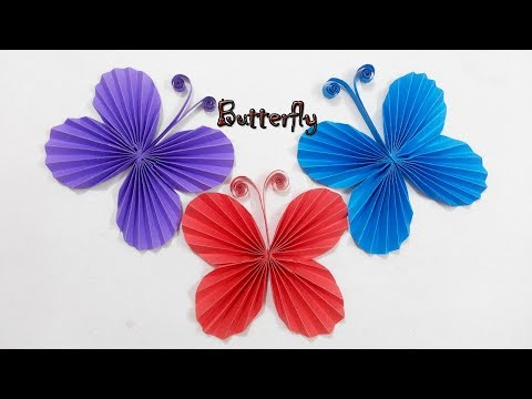 Easy Paper Butterfly Origami - Cute & Easy Butterfly, DIY Origami for Beginners    Craft Ideas #121.