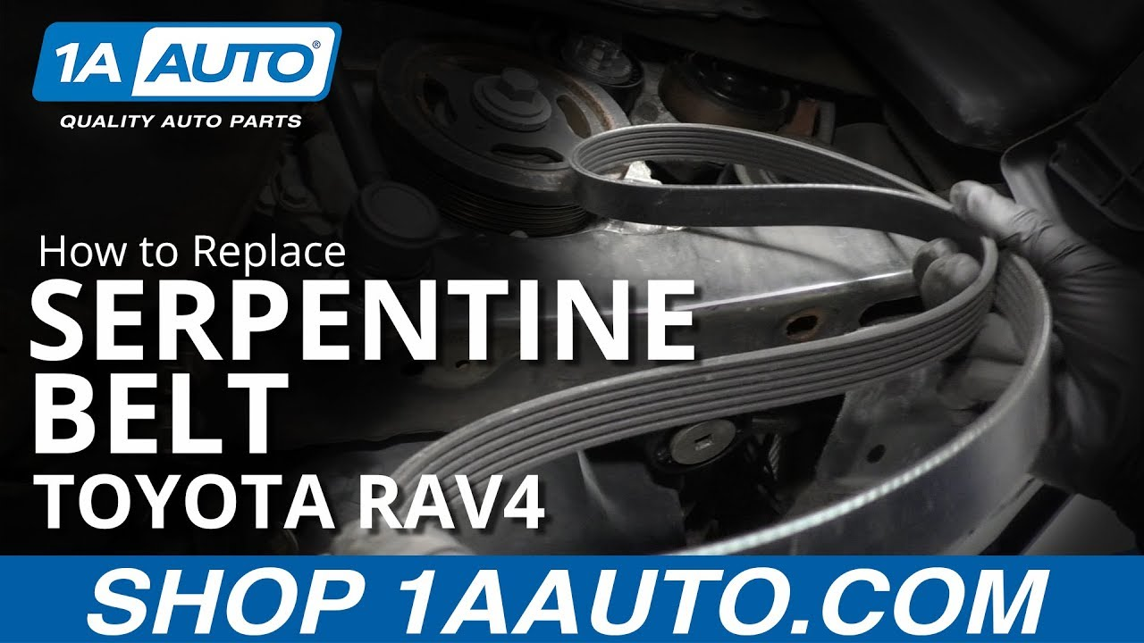 How to Replace Serpentine Belt 05-16 Toyota RAV4 - YouTubeYouTube