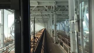 【前面展望】jr四国瀬戸大橋線 瀬戸内海に架かる瀬戸大橋を疾走する快速マリンライナー 坂出~児島